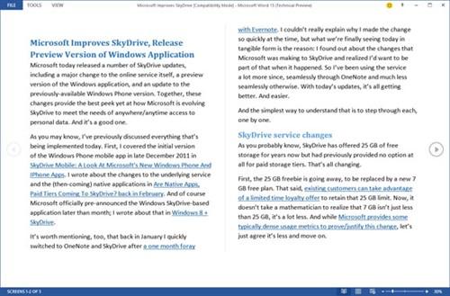 微软Office15技术预览版截图大量曝光