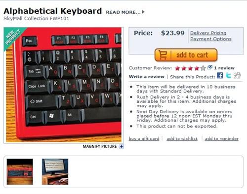 习惯成自然 键盘字符排序是否该变化