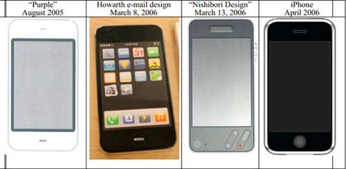 allthingsd还将苹果多达100张设计原型图片放在一起,以此让人们看到