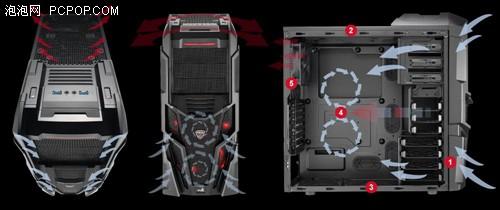 这款机箱中塔尺寸,采用0.6mm日本secc钢板.
