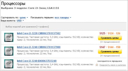 $125起价 Intel台式版i3 IVB开始预定