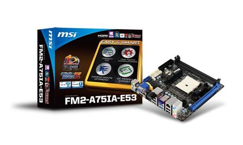 A75新生 微星发布首款FM2接口A75主板