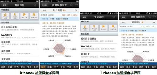 益盟操盘手手机炒股完美适配iPhone5