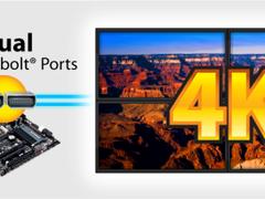 技嘉秀双雷电接口主板 支持4K分辨率