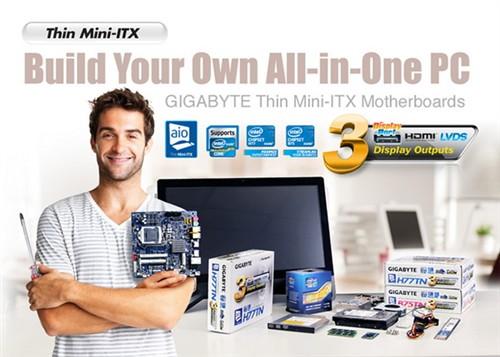 超薄2.5cm!技嘉推Thin mini-ITX主板