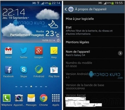 旗舰身份 三星S4运行Android 4.3曝光