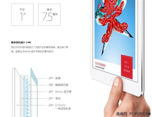 超窄边框 苹果iPad Air解析