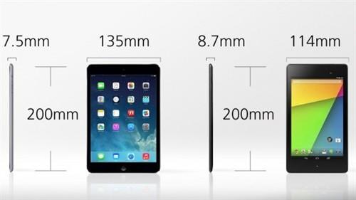 谁能兜里称王?iPad mini2对比新Nexus7