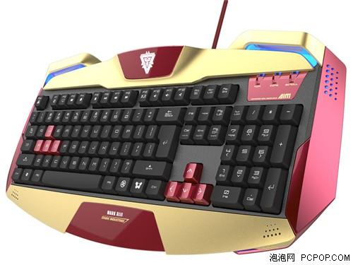 LED三色变光 宜博钢铁侠3主题键盘亮相