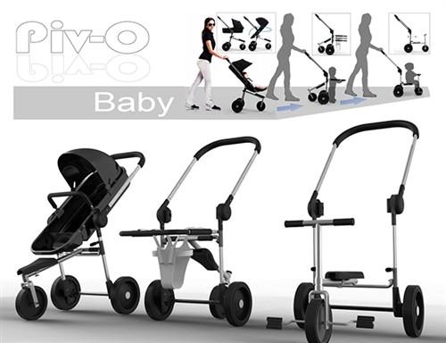 帮助婴儿成长的婴儿车设计