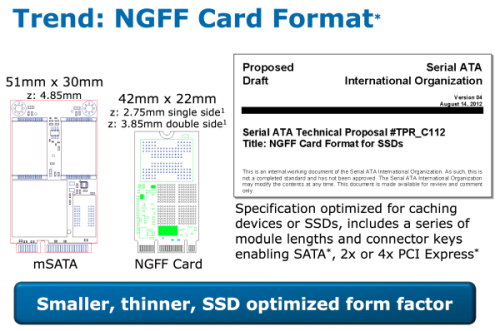 比SATA3快 Intel 9系列主板支持NGFF