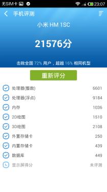 最值得购买的红米手机 红米1S性能评测