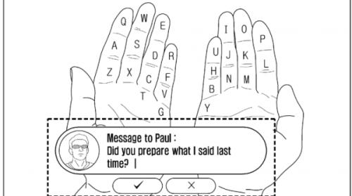 三星申请奇葩专利 利用手指做虚拟键盘
