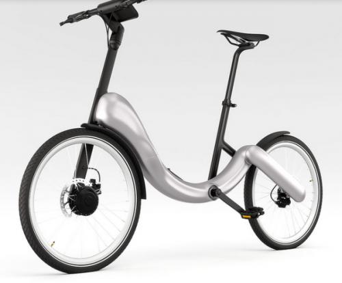 折叠电动 JiveBike自行车可与手机连接