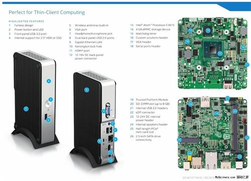 单核Atom处理器 Intel廉价版迷你主机