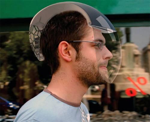 科幻感觉十足 空气净化器的头盔概念