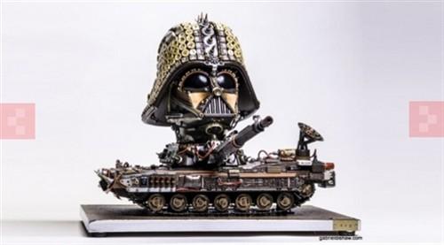 电子垃圾也有高价值 各类创意雕塑[图]