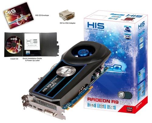 涡轮散热 HIS R9 270X冰酷报价1399元