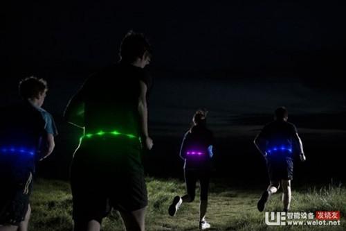 Glowbelt发光腰带 夜间出行安全又抢眼