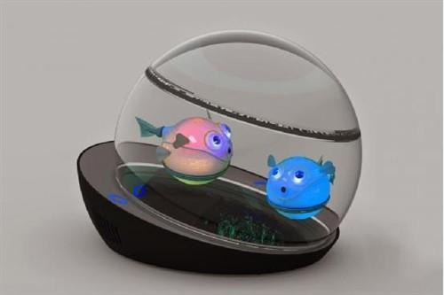 可用智能手机控制的LumiPuff机器金鱼