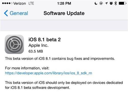 新测试版来啦!iOS 8.1 Beta 2正式发布
