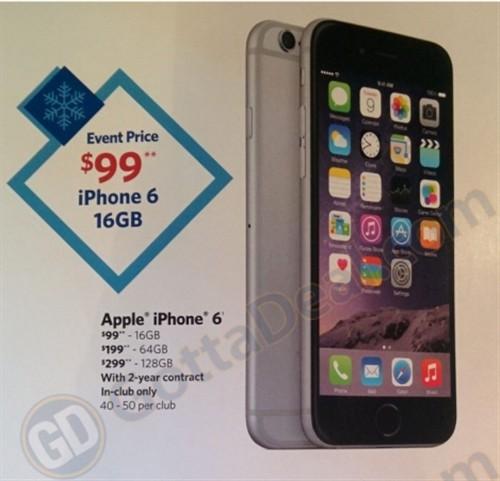 别人家的!iPhone6合约下调100美元促销