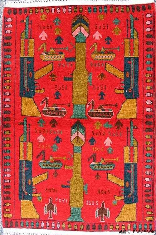 阿富汗漂亮的手工地毯现捕食者无人机