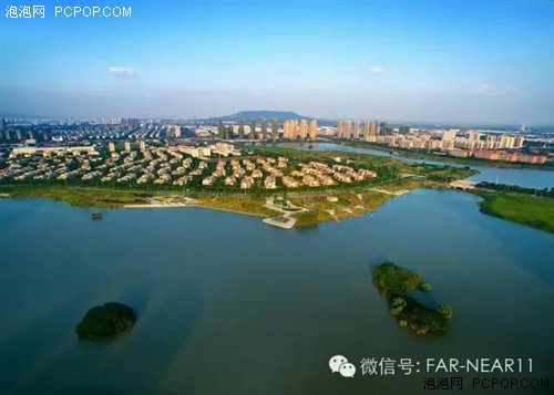 无人机航拍九龙湖原生态自然山水风光