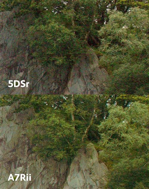 索尼A7RII与索尼A7R/佳能5DSr对比测试