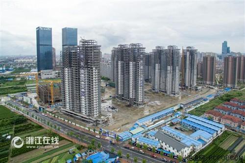 航拍――全国最大规模钢结构保障房年底完工