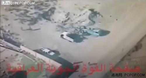 彩虹4无人机在伊拉克打击IS 射导弹炸毁车辆