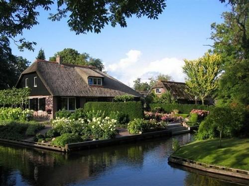 拍摄荷兰梦幻水乡 童
