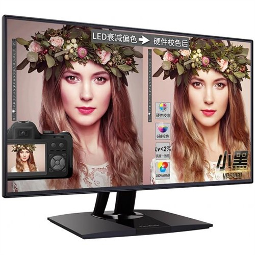 优派窄边框24吋显示器VP2468上线发售