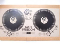 12英寸必胜客披萨盒变身DJ控制台