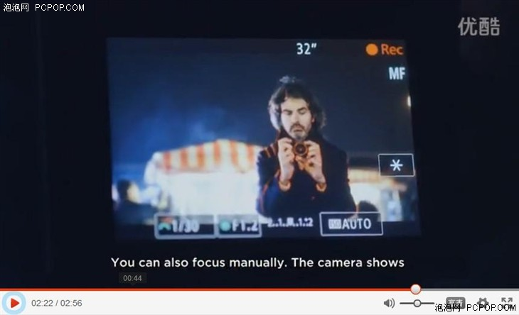 佳能EOS M3广告中泄露f1.2大光圈镜头