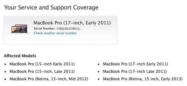 苹果召回显卡存在故障的MacBook Pro