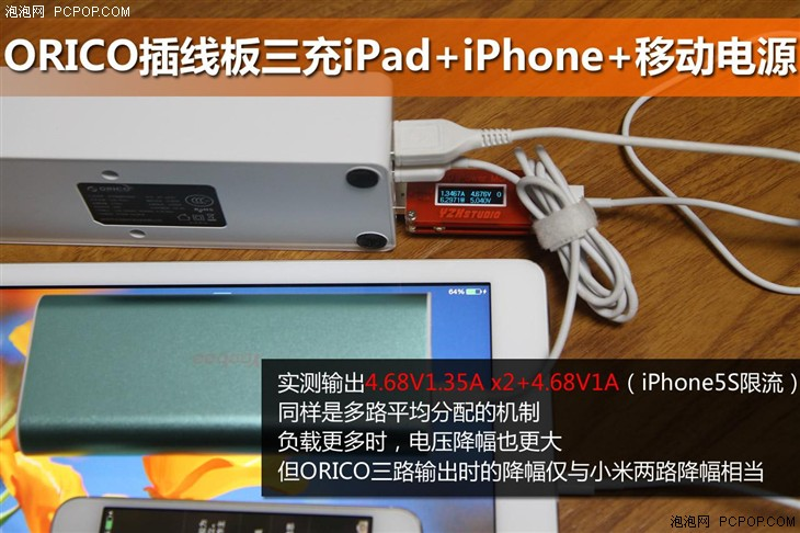 小米插线板不过如此 测ORICO USB插排