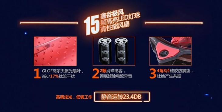 鑫谷极风15颗高亮LED灯珠风扇火爆热售