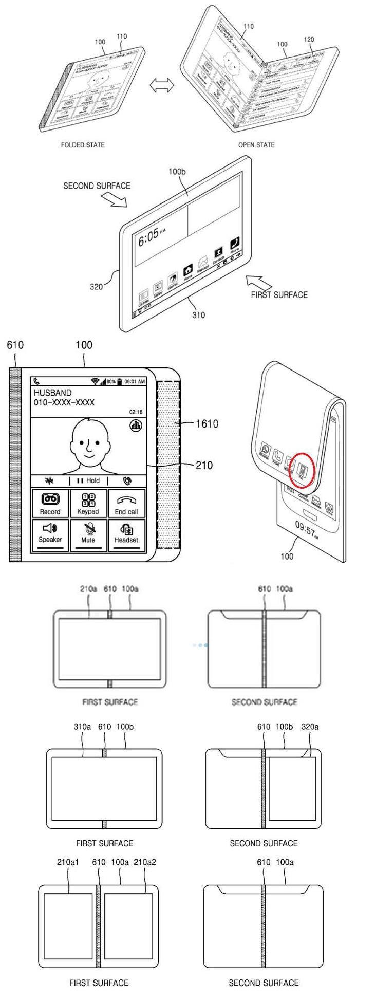 新创意:三星申请双面手机变平板专利