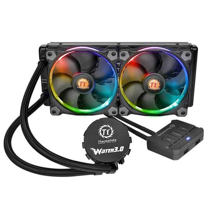 Tt发布带RGB灯光一体式水冷散热器