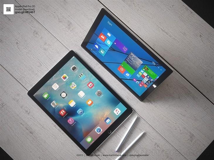 iPad Pro上季度销量超过所有Surface平板
