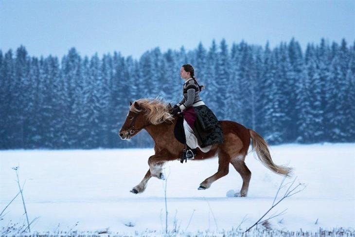 远离城市化生活 孤独女孩与85只雪橇犬