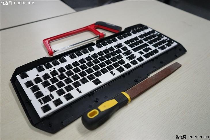 就是喜欢悬浮键帽:暴力改造机械键盘