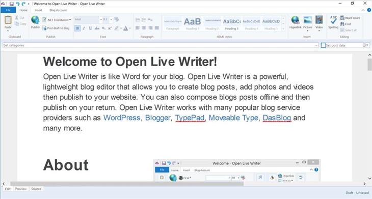 Open Live Writer已经在Windows Store上线