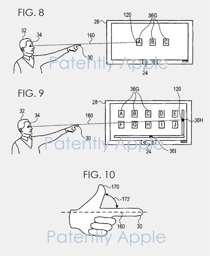 苹果获批通过凝视和手势指点控制屏幕的专利