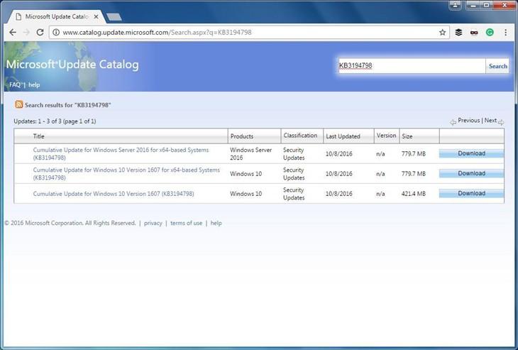微软允许Chrome和Firefox访问更新目录网站