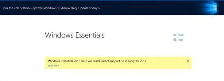 明年1月10日起无法下载Windows Essentials