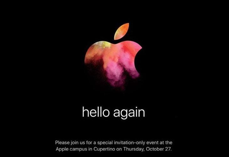 Hello Again 苹果将于27日发布新款Mac