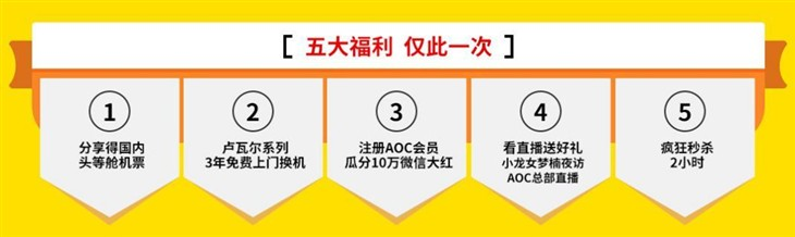 AOC双11京东专场五大福利!玩儿HIGH了