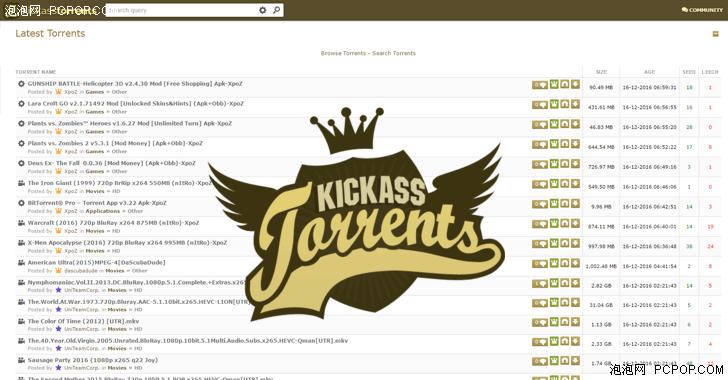 世界最大BT下载站之一Kickass宣告回归